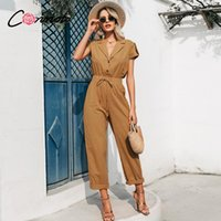 Conmoto solid summer beach women jumpsuits romper casual but...