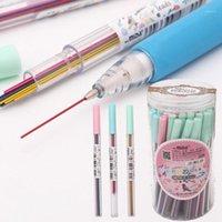 1box 0.5/0.7 مم ملون ميكانيكيا التلقائي قلم رصاص الفن رسم رسم لون قلم رصاص الرصاص اللوازم مكتب المدرسة 1
