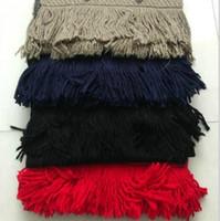 Bufanda de algodón puro de invierno para mujeres Hombres cálidos Pájaro a cuadros Moda Mujeres imitan bufandas de cachemira 180x35cm