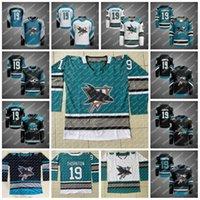 Gençlik San Jose Sharks 30. Yıldönümü Isınma Formalar Patrick Marleau Joe Thornton Brent Burns Erik Karlsson Logan Couture Kane Jones