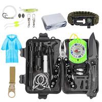 EDC Survival Kiti Dişli Aracı Kiti Acil SOS Survival Araçları Acil Battaniye Taktik Kalem Fener Pense Tel Testere Açık Dişli Seti