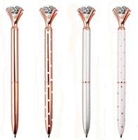 Stylo à bille de diamant stylo métal stylo de bille gemme de bureau fournit des stylos cadeaux pour les travailleurs d'anniversaire de mariage de Noël enfants