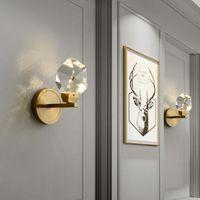 Настенный светильник постмодерн светодиодный роскошный золотой алмазная призма Sconce Luster для кухни ванная комната гостиная спальня лестница