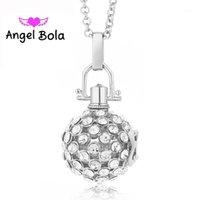 Collane del pendente Vintage 20.5mm Angel Bola Harmony Caller Collana Crystal Inlaid Rame Gage Sound Ball Gioielli per la mamma Regalo L0491