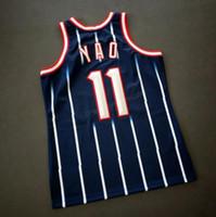 Rétro pas cher sur mesure # 11 Yao Ming Mitchell Ness College Basketball Jersey Tous les hommes Cousu Bleu Taille 2XS-3XL 4XL 5XL Nom ou numéro