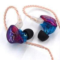 KZ Zst 3.5mm en auriculares para la oreja HIFI BASS Ruido Cancelación Auriculares Auriculares para Samsung iPhone Xiaomi Huawei Smartphones