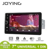 """자동차 DVD 플레이어 Joying 7 """"Autoradio 1 DIN Android 10 GPS WiFi 자동 스테레오 테이프 레코더 유니버셜 헤드 유닛 센터 멀티미디어 MP5"""