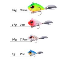 1 pcs 20mm-35mm Metal Mini Vib Lure Pesca 6G-22G Inverno Gelo Pesca Equipamento Pin Crankbait Vibration Spinner Sink Jlllot
