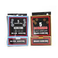 흡연 파이프 액세서리 스테인레스 스크린 500pcs / 팩 금속 필터 유리 건조 허브 그릇 홀더 담배 파이프 도구에 대 한 직경 17mm