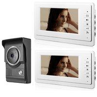SmartYIBA-Video-Türsprech 7-Zoll-Monitor Wired Video-Türsprechanlage Türklingel Visueller Eintrag Freisprech Intercom-Kamera-Kit