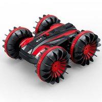 Camión de embarcaciones 4WD 6CH 2.4GHz Agua terrestre 2 en 1 RC Coche de juguete Carrera impermeable 1:18 Vehículo remoto con giro eléctrico de juguete
