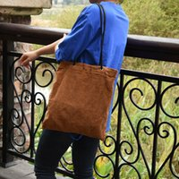 HBP lazy wind cord velvet bag autumn and winter Korean version of the large-capacity student Sen system simple wild