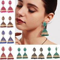 Luokey 2021 Moda Etnica Boemia Luxury Tassel Beaded Dangle Danning Goccia Orecchini per le donne Vintage Gemelleria indiana indiana