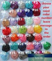 100pcs 5 cm (1.96inch) Toptan Ücretsiz Kargo İpek Gül Sahte Gül Buketi Malzeme Yapay Kumaş Çiçek seç için 37 Renkler