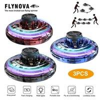 Flynova rc البسيطة بدون طيار ufo rc quadcopter fingertip ترقية رحلة الدوران flyin spinner decumpression rc اللعب هدية للأطفال new lj201210