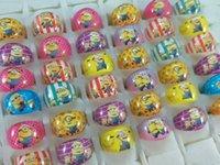 Yüzükler Çocuklar Reçine Toptan Çocuk Kızlar 200 Factory / Lot Minions Doğum Günü Noel Partisi Hediye