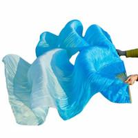 Bühnenabnutzung 100% echte Seide Schleierzubehör 1 Paar Handgemachte Frauen Qualität Bauchtanzfan Danc Großhandel Größe Farbe Kann angepasst werden