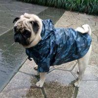 Pet Camouflage Большая собака Плащ Водонепроницаемая Одежда для небольших больших собак с капюшоном дождевой плащ французский бульдог Лабрадор Чихуахуа LJ200923