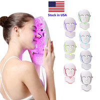Stock en EE. UU. 7 Color Máscara LED Terapia Luz Face Beauty Machine LED Facial Cuello Mascarilla Microcurrente LED Cintura Rejuvenecimiento FedEx Envío gratis