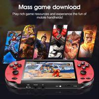 X7 4,3 polegadas Jogo Console Nostalgic Classic Dual-Shake Jogo Console 8G Built-in 10.000 Jogos de Suporte Camera, Vídeo,