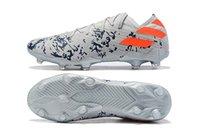 Clases de fútbol para hombre de primera calidad Nemeziz 19.3 Lacess FG 19 + X Messi Chaussures Hommes High Tobillo Zapatos al aire libre Botines de fútbol Tamaño 39-45