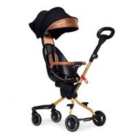 Baby-Kinderwagen mit Vierrad Fuß Kinderwagen leichter faltender Zwei-Wege-Auto carrinho de pousette passeggino 5.35kg