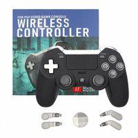 PS3 / PC 비디오 게임 콘솔을위한 블루투스 무선 게임 패드 PS4 듀얼 진동 엘리트 게임 컨트롤러 조이스틱 # IY9G