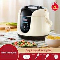 طباخات الأرز طباخ منزلي 2L 400W متعددة الوظائف مصغرة الذكية الغداء مربع 1