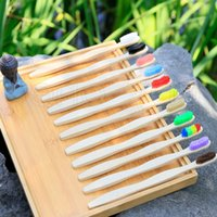 Natural Bamboo Toothbrush Disposable Hotel Soft Bristles Natural Eco Bamboo Fibre Wooden Handle Toothbrush For Adults