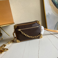 إمرأة صغيرة لينة جذع سلسلة إلكتروني الطباعة قماش جلد طبيعي حقيبة الكتف CROSSBODY الحويصلات à bandoulière دي لوكس 7A الحويصلات جودة à الرئيسية