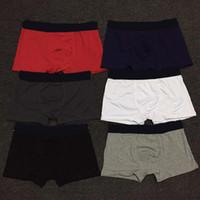 2021 Nueva moda para hombre boxeador ropa interior pantalones cortos de algodón sexy gay hombre ropa interior boxeador adulto boxershorts suaves hombres boxers moda masculino calzoncillos