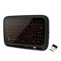 تحكم عن بعد H18 + 2.4 جيجا هرتز لوحة مفاتيح الإضاءة الخلفية اللاسلكية مع لوحة لمسة كبيرة لوحة اللمس الكامل تحكم الطائرة ل الهاتف الذكي ps3
