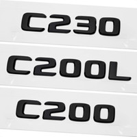 Mercedes Benz C 클래스 W201 W202 W203 W204 W205 C230 C200L C200 액세서리에 대한 ABS 자동차 리어 트렁크 엠블럼 레터링 배지 스티커