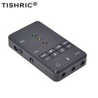 Ljudkort 7.1 USB-kortinspelning Mikrofon Hörlurar 3.5mm Jack Audio Adapter Extern för Mac PC-dator Android Linux