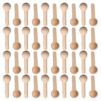 Colheres de madeira 50/500 pcs mini colher casa cozinha cozinha ferramenta scooper sal tempero mel de madeira serving