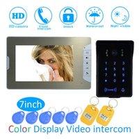 Video-Door-Telefone Smart Home Intelligent 1 bis Intercom Kit 7-Zoll-LCD-Monitor-Kabel-Handy-Türklingel-System-Überwachungskamera für den Vistor