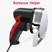 110V / 220V Comercial eléctrica máquina de cortar carne cortador rotatorio automático ayudante Barbacoa raspador de carne corte de la máquina Barbacoa ayudante