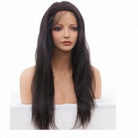 Supplier on sale unprocessed remy virgin human hair long natural color natural straight full lace cap wig for women