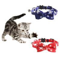 Arbeiten Sie Haustier-Hundekatze-Kragen-amerikanische Flagge Druck Halskette für kleine und mittlere Hunde Hundehalsband Pentagram Körperpflege-Accessoires