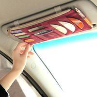 Saklama Torbaları Yüksek dereceli Güneş Visor Çantası Araba Notes Kılıfı CD DVD Disk Kart Kılıfı Klasör Cep Alın