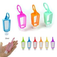 Silicone Hand Sanitizer Holder Keychain 30ML Refillable Travel Bottle Cover Disinfectant Alcohol Bottle Holder Liquid Soap Bottle Holder