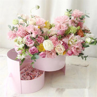 High- end Colorful Double Layer Flower Gift Boxes Wedding Par...
