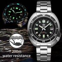Addies mergulhador profissional relógio 200m impermeável NH35 relógio automático homens safira de aço inoxidável mecânico