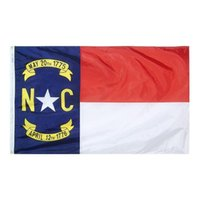North Carolina Flag State of USA Banner 3x5 FT 90x150cm stanu Flag Festiwal Party Prezent 100D Poliester Kryty Outdoor Drukowane Gorąca Sprzedawanie