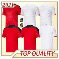 2020 2021 مصر الصفحة الرئيسية Soccer Jersey M. Salah 20 21 Kahraba A. Hegazi Ramadan M.Elneny زي قمصان كرة القدم