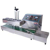 Vacuum Food Sealing Machine Continuous Automatic Electromagnetic Induction Plastic Bottle Aluminum Foil Film Gasket Oil Drum