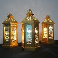 라마단 램프 Eid 무바라크 라마단 파티 LED 매달려 초롱 14 * 28cm 따뜻한 조명 이슬람교 회교도 이벤트 파티 장식