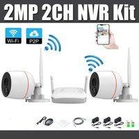HD 1080P 2CH wireless NVR kit Mini Home security System H. 26...