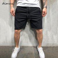 Dimusi Yaz Erkek Şort Rahat Erkek Fitness Spor Şort Katı Renk Koşu Erkek Nefes Joggers Giyim1