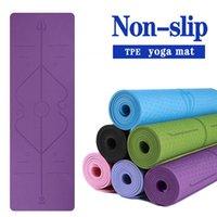 TPE 183 * 61 * 0.6cm kaymaz yoga minderi jimnastik kalın fitness egzersiz egzersiz paspaslar için doğal kauçuk jimnastik spor halı acemi
